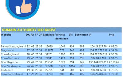 Domain Authority SEO Boost – trustflow domain-authority domein-auteriteit TF DA seo boost seo-boost