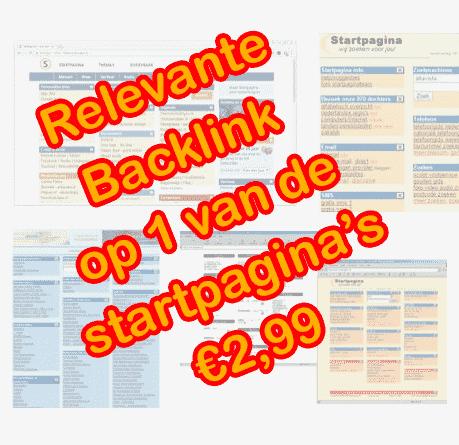 Relevante backlink op 1 van de startpagina's
