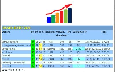 DA SEO Boost 2020 – domain-authority domein-auteriteit DA seo boost seo-boost