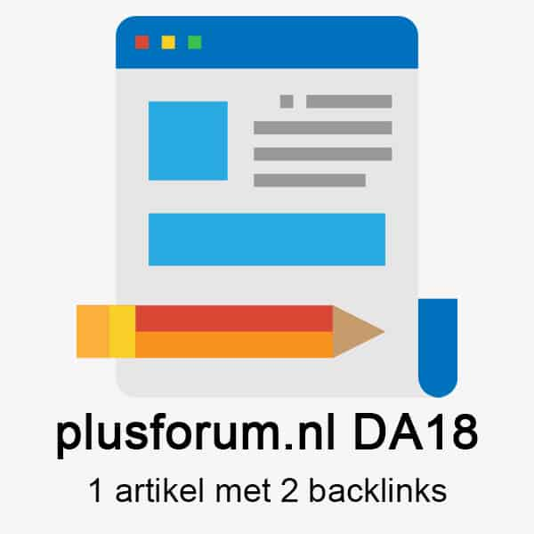 Plusforum.nl DA18 – 1 artikel met 2 backlinks