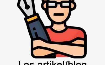 Los artikel of Blog met backlinks