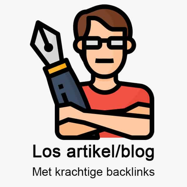 Los artikel of Blog met backlinks