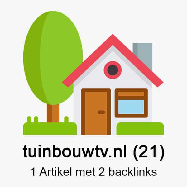 Tuinbouwtv.nl DA21 – 1 artikel met 2 backlinks